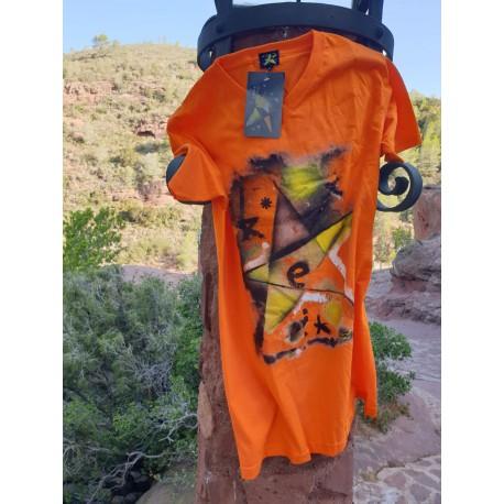 Camiseta hombre naranja