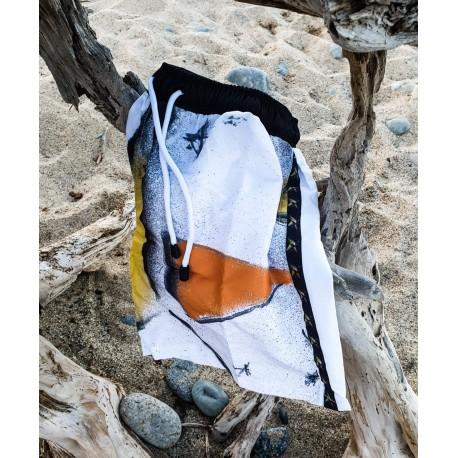 Bañador hombre blanco-naranja
